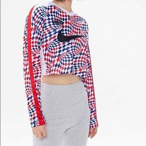 Nike checkered crop top